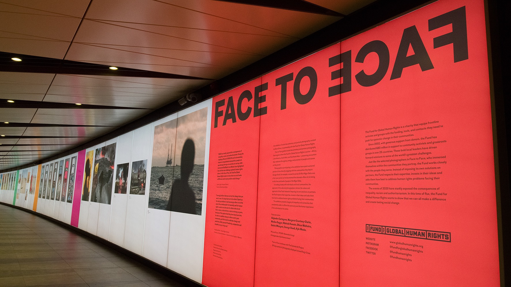Project image for Face to Face at the King's Cross Tunnel