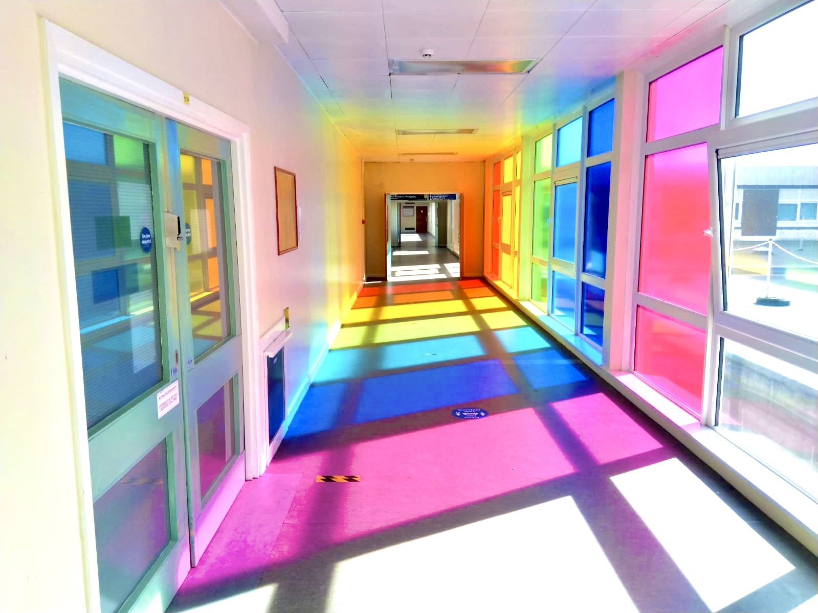 Project image for North Tees Hospital 'Support The NHS' Rainbow Corridor